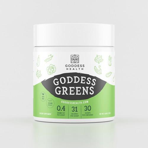 Goddes Greens Label Design