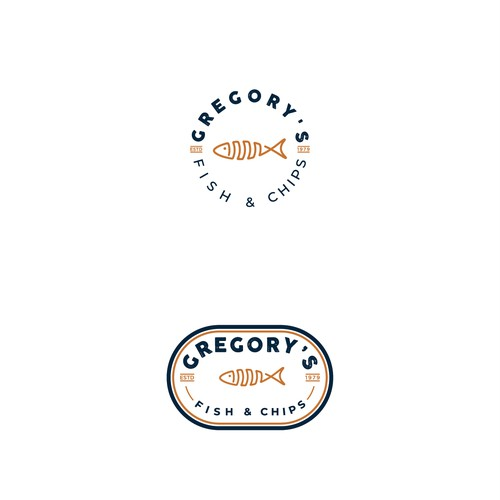 Modern Fish & Chip shop logo for a new generation