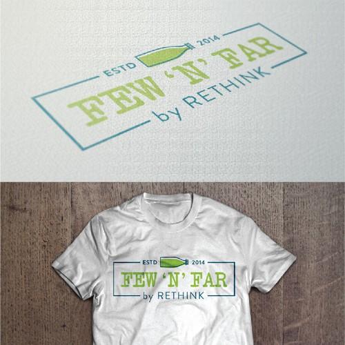 Contemporary high end t-shirt brand logo