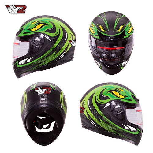 Create a BOLD, COOL, Head Turning Full Face Motorcycle Helmet Design/Graphics!