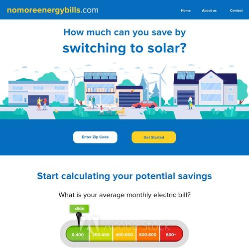 Solar Landing Page Design Contest