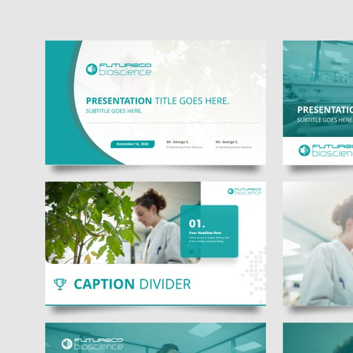 Powerpoint Template for Futureco Bioscience