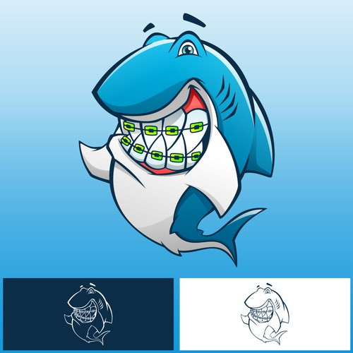 Shark Mascot for Dental Bussiness