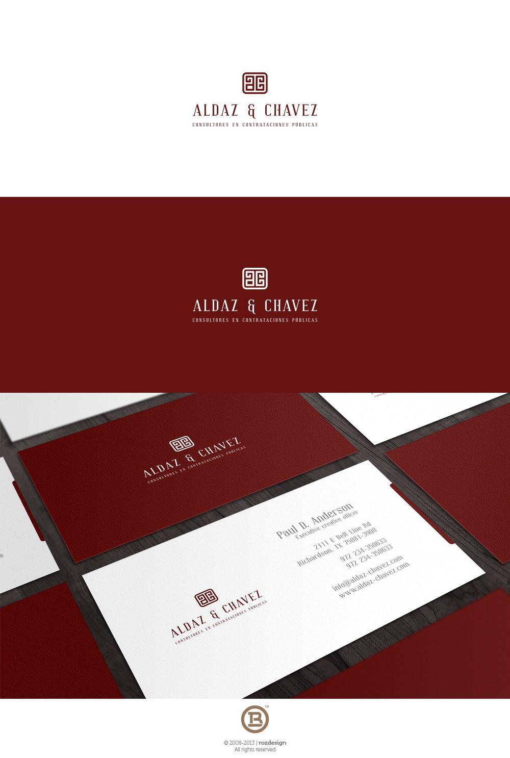 Law Firm needs a smart, eye-catching and modern logo - Aldaz & Chávez