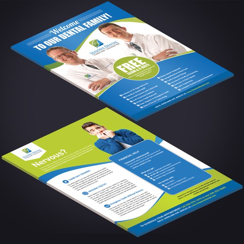 Design a newpaper insert promoting our dental practice