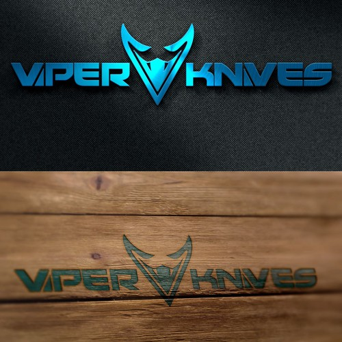 Sharp logo design for Viper Knives