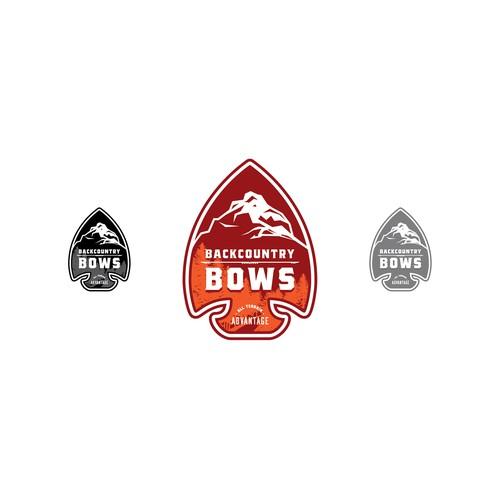 Bold logo for bows company