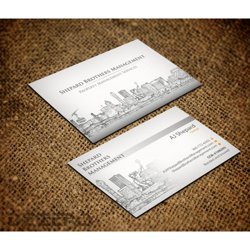 Create the next stationery for Shepard Brothers Management