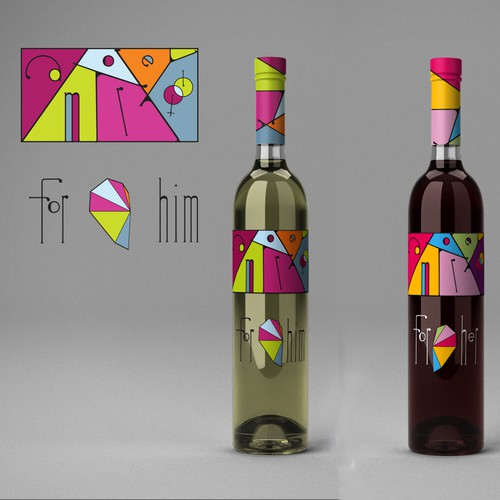 Etiquet design for Amore wine