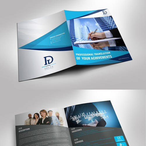 Create attractive and unusual brochure for translation company