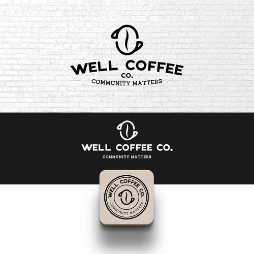 Simple, clean, one or two-color logo
