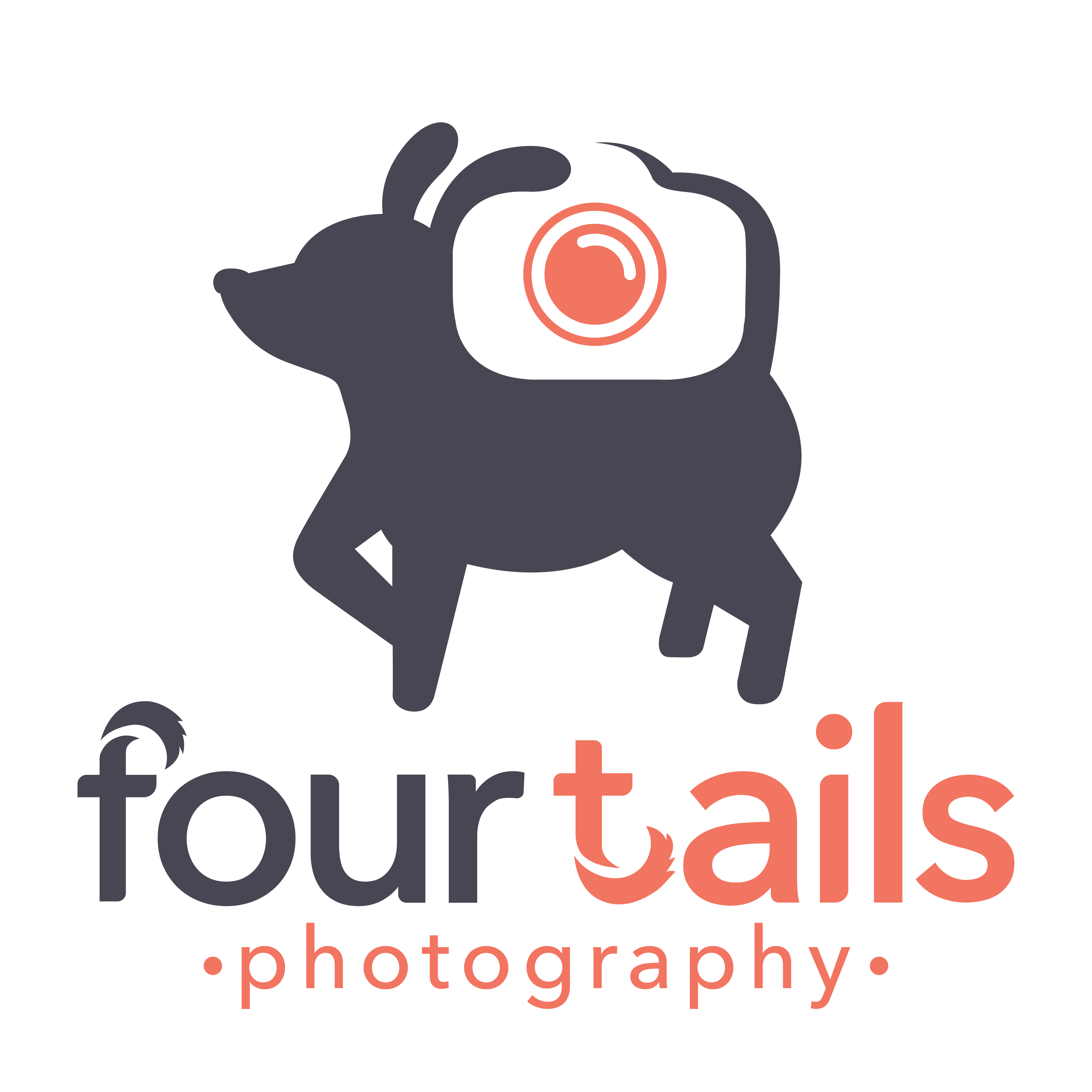 Create a clever minimalist logo for pet photography business