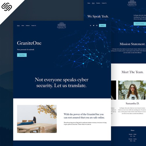 GraniteOne : Squarespace Security Web Design
