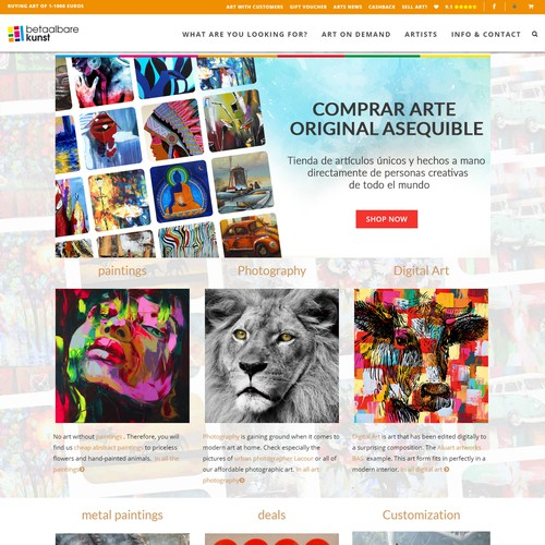 Artistic HTML5 Website Header