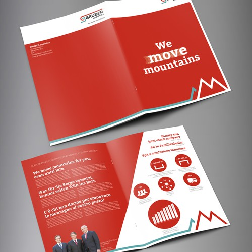 Contest Winning Brochure for a Gruber Logistics