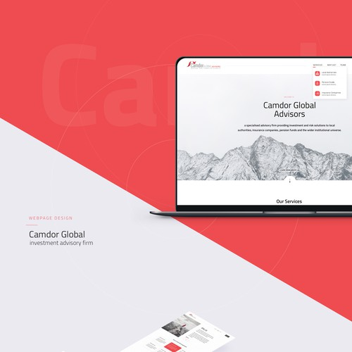 Webdesign for Camdor