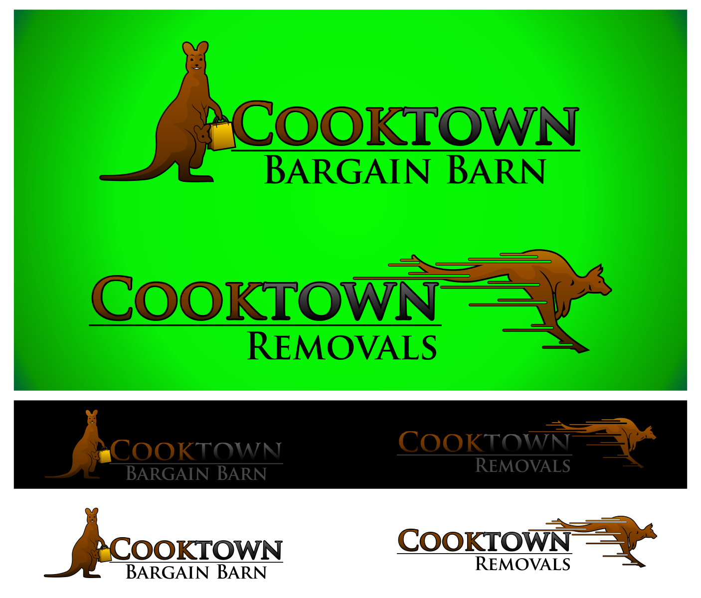 New logo wanted for We want two logos...Cooktown Bargain Barn and Cooktown Removals
