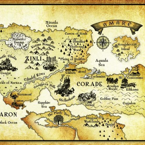 - Fantasy map - AMARE