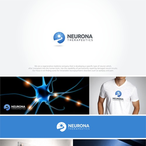 Create a stunning logo Neurona, a company focused on interneuron cell-based therapies