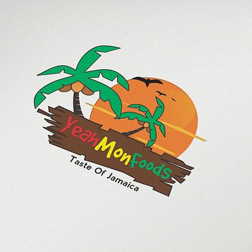 Create a fun logo design for a Jamaican food company