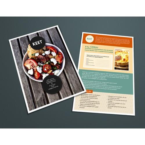 creëer een stoere flyer voor de maaltijdservice van KEET