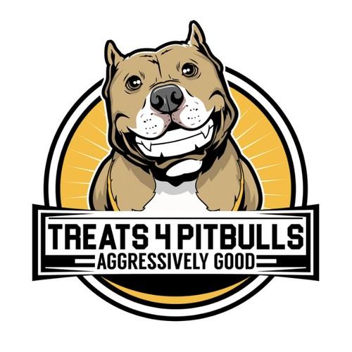 Fun Friendly Pitbull dog cartoon character