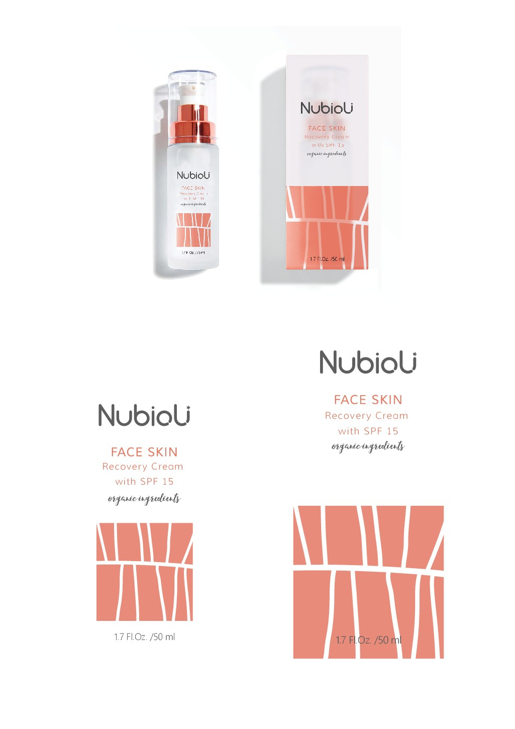 Invent Eye-Catching and Modern Packaging for Italian Organic Skin Care Beauty Brand