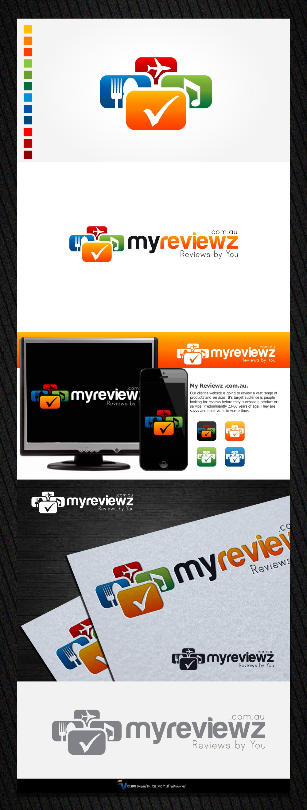 Create the next logo for My Reviewz