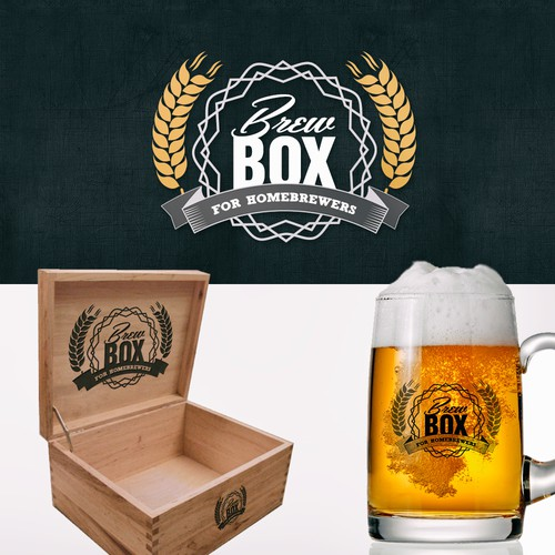 Logo for BrewBox, the 'BirchBox for homebrewers'!  Every month, we ship you ingredients to brew beer