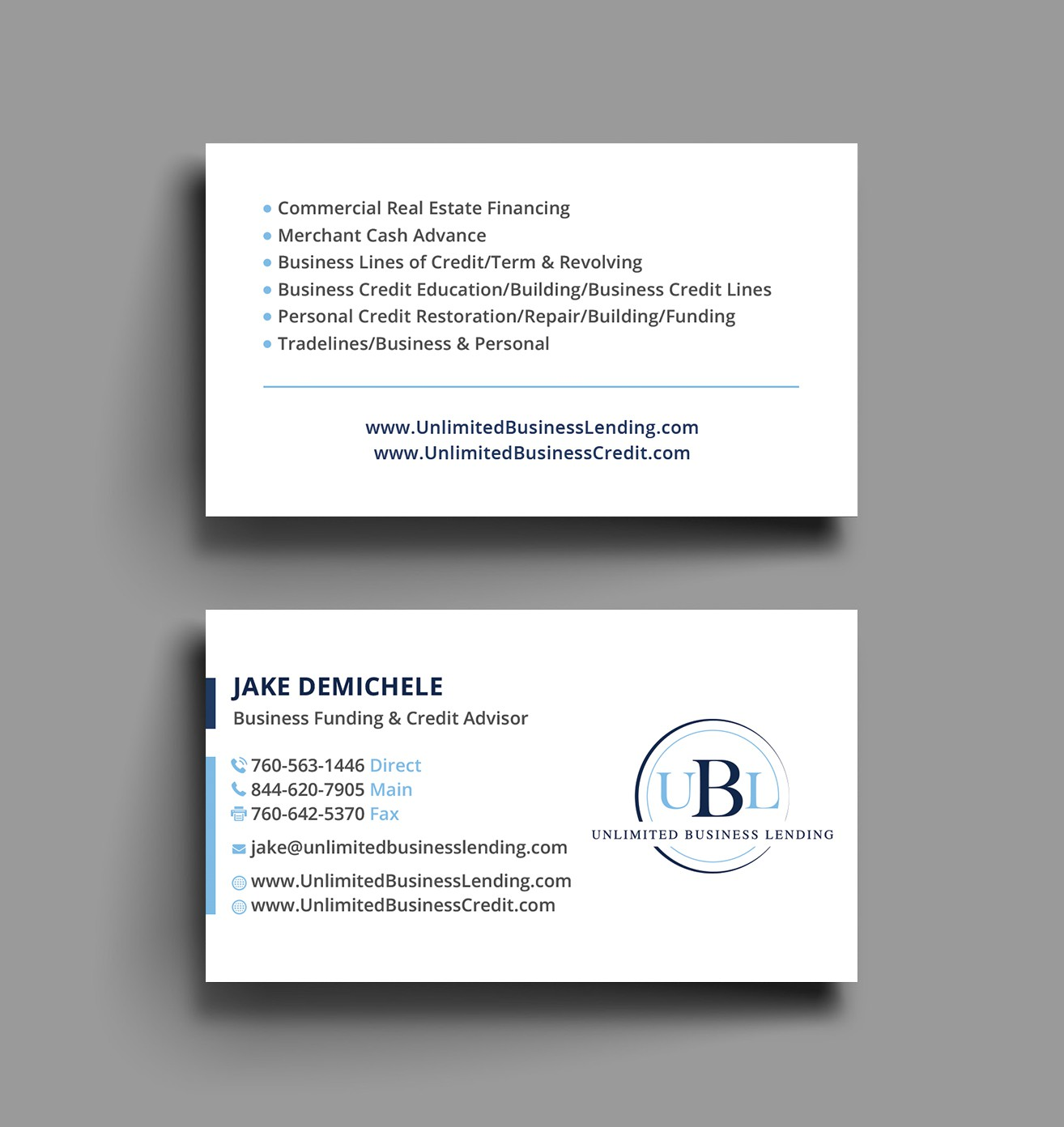 Easy, Conservative Business Card Design - Financial Services