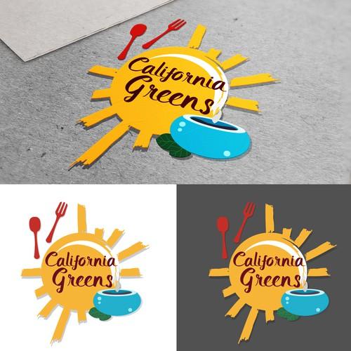 California inspired logo design for a cafe