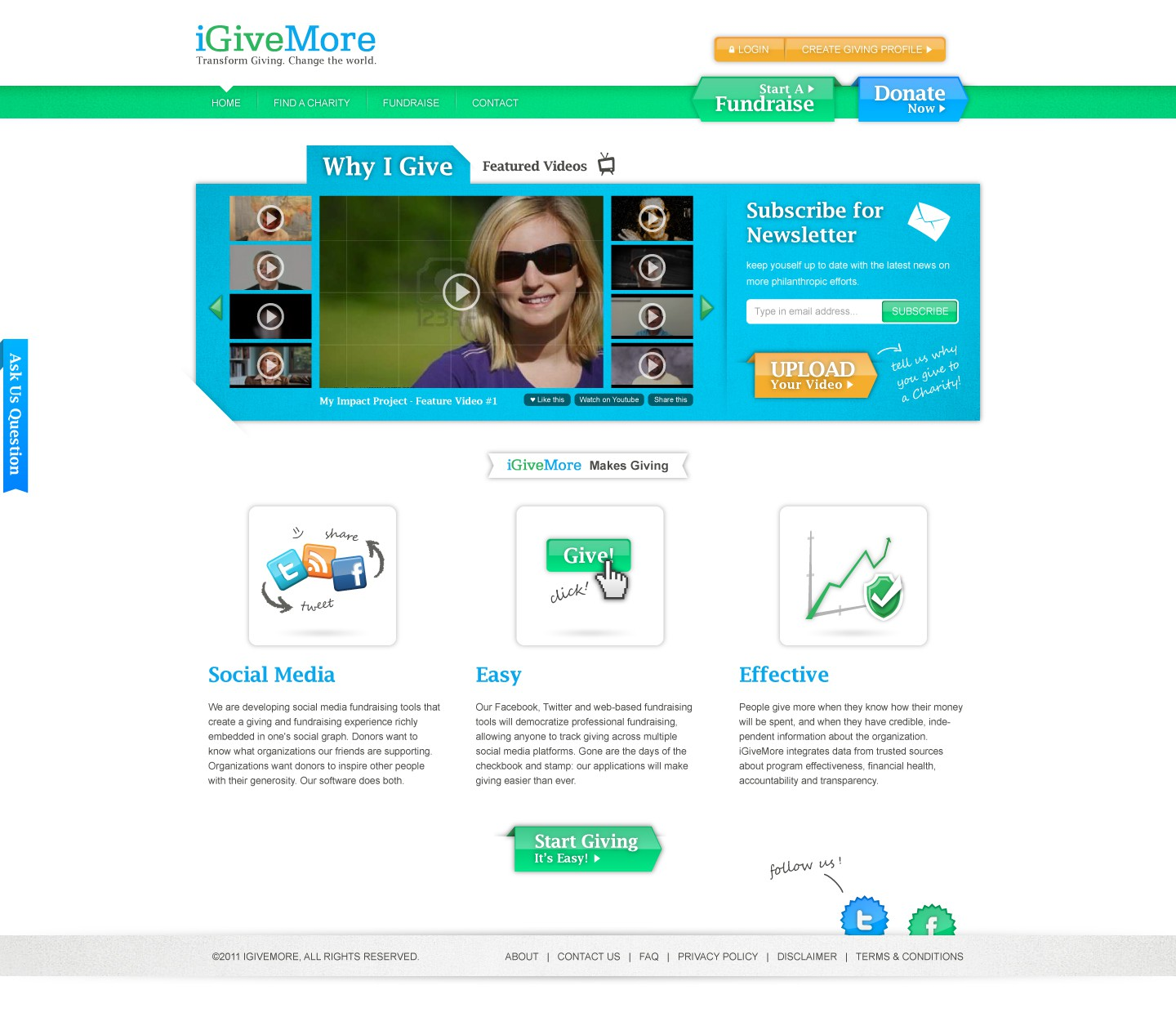 Help iGiveMore with a new website design
