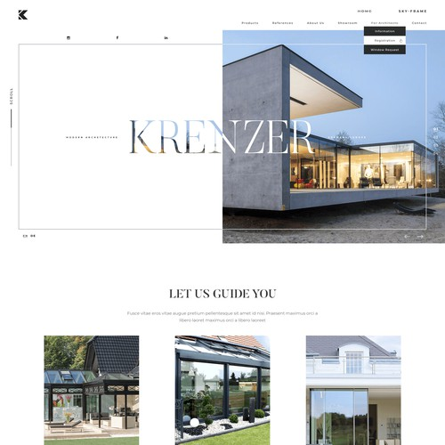 Krenzer - Web redesign for architecture company