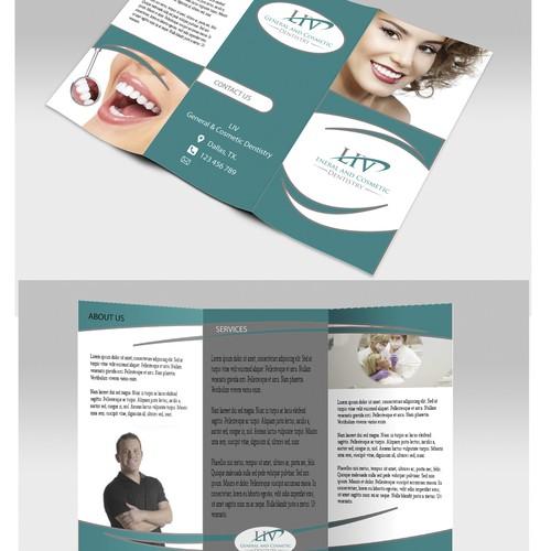Need stunning, clean, modern brochure for trendy dentist office.