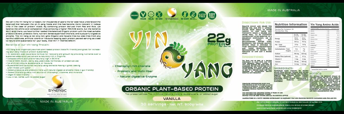 amendment for yin yang Vanilla flavor