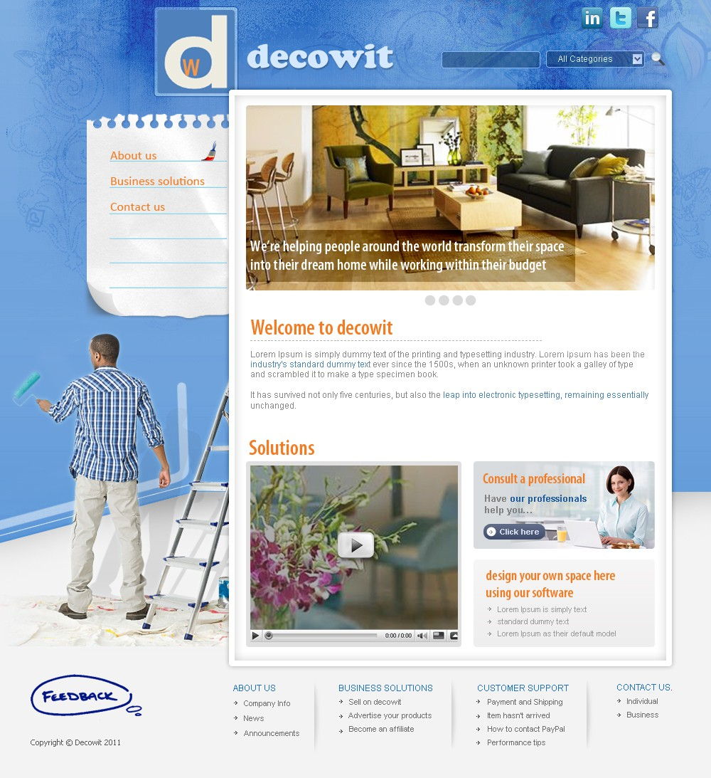 Help decowit with a new website design