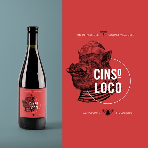 Organic wine label design