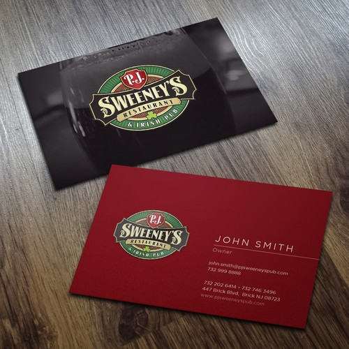 Irish Pub Business Card Design