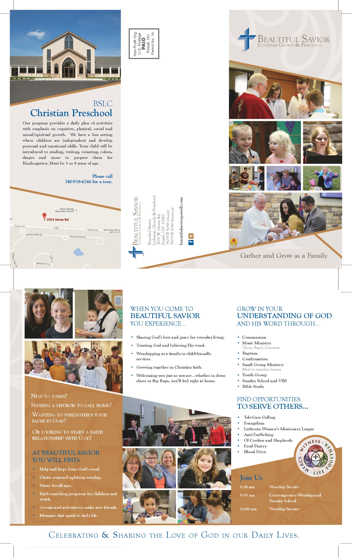 Beautiful Savior Lutheran Church brochure