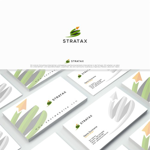 branding design for big company Stratax