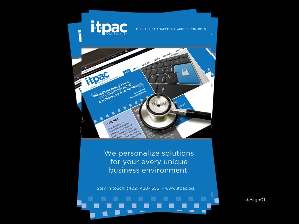 print or packaging design for ITPAC