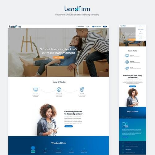 Responsive design + development for LendFirm