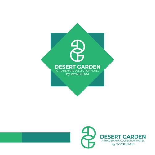 Ambigram logo concept for desert garden