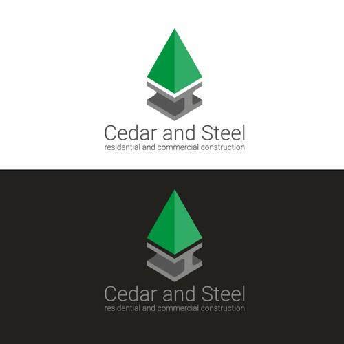 Cedar and Steel Construction Logo Concept