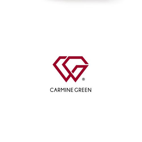 Carmine Green logo design