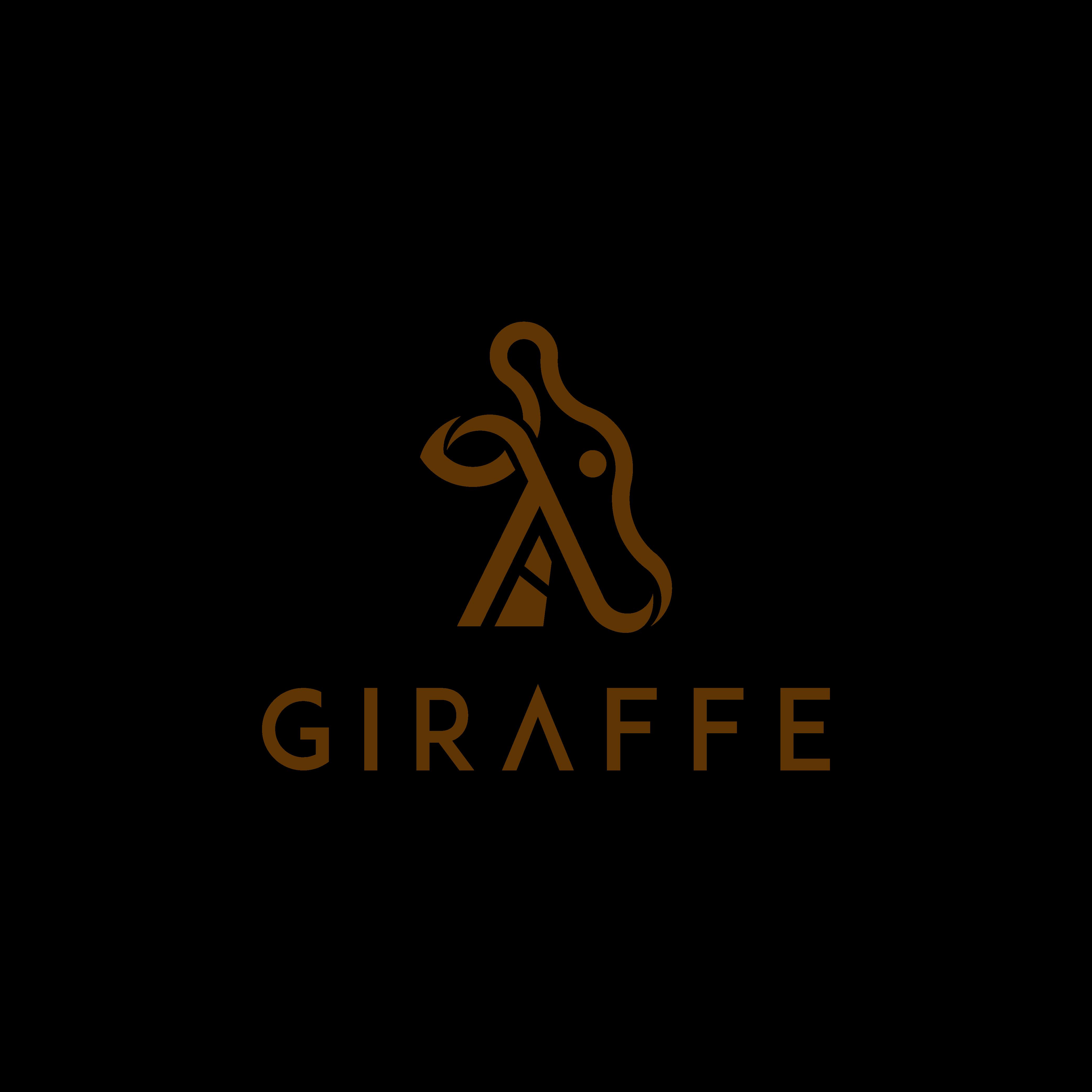 Design a giraffe logo in the form of the lambda calculus sign