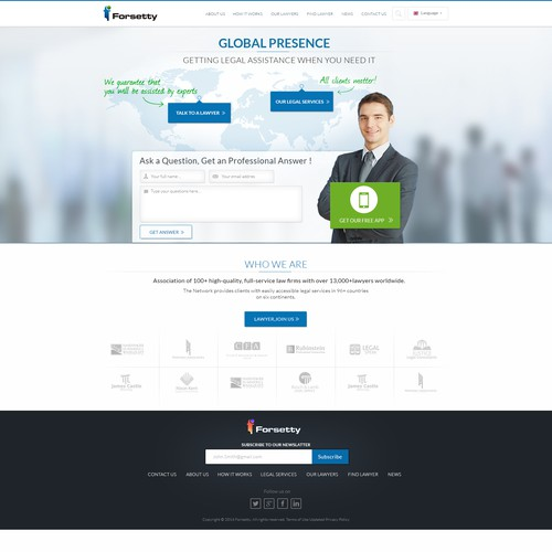 Website for international Legal Assistance service (for insurancecompanies and banks' customers)