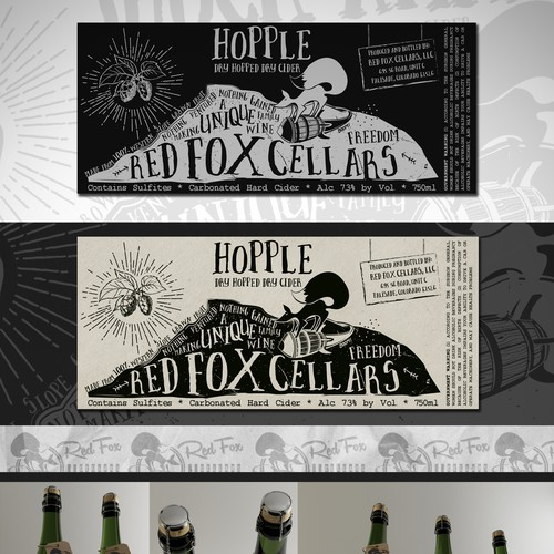 Red Fox Wine Label