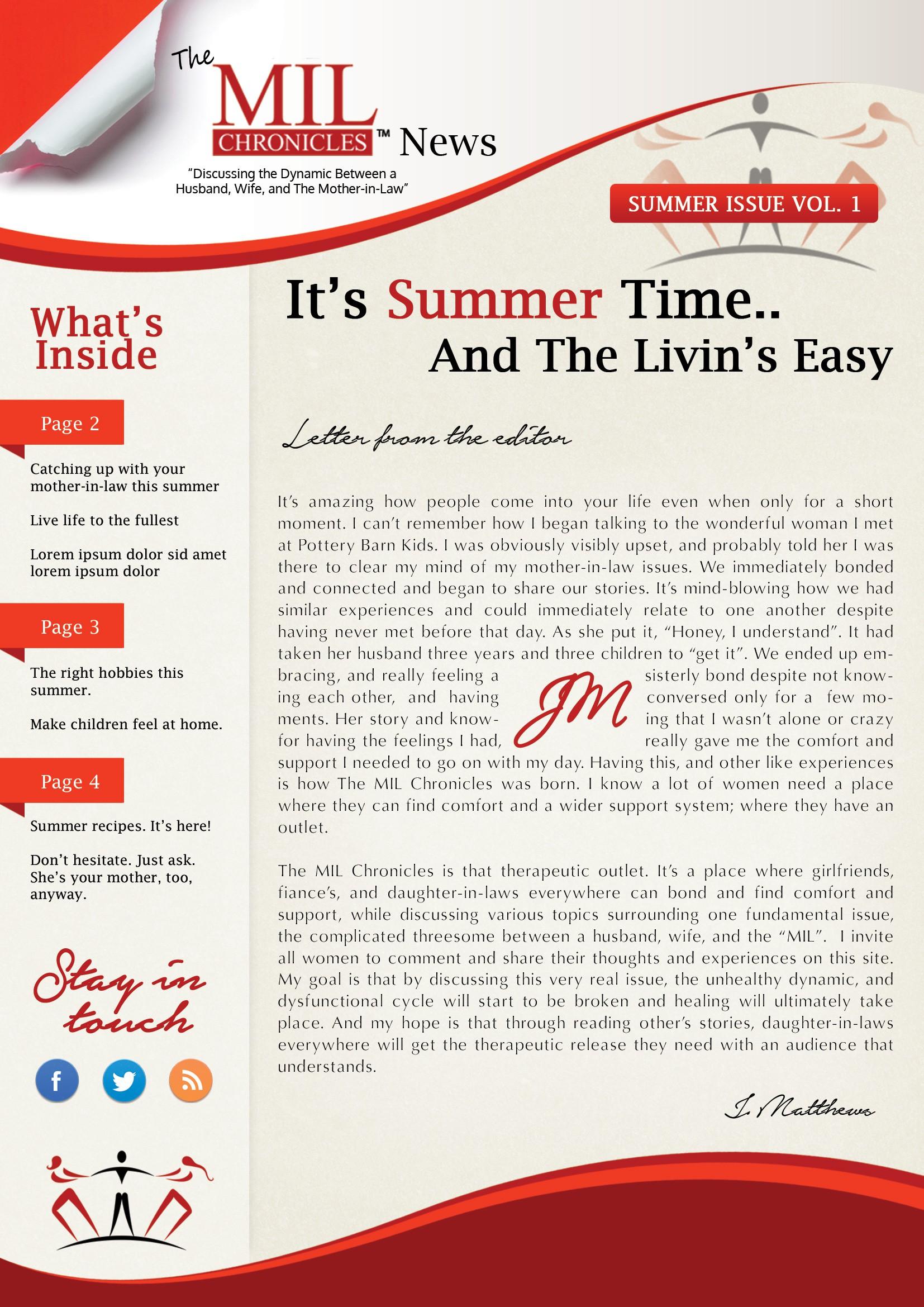 Creative Newsletter Design for a Blog Needed