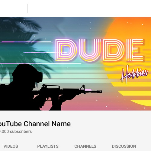 Youtube channel Banner Design